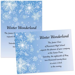 "5"" x 7"" Invitation - Snowflakes"
