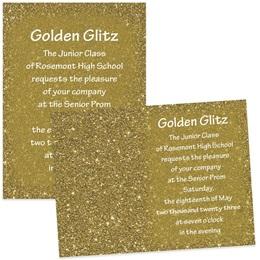 "5"" x 7"" Invitation - Gold Dust"