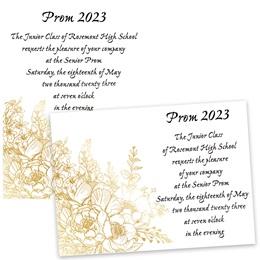 Gilded Roses 5x7 Invitation