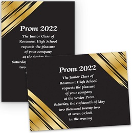 Golden Glam 5x7 Invitation
