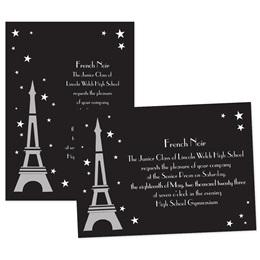 Paris Under the Stars 4x6 Invitation