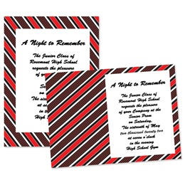 "Diagonal Stripe 4"" x 6"" Invitation"