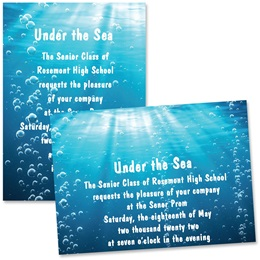 Rolling in the Deep 4x6 Invitations