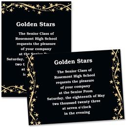 Gold Shooting Stars 4 x 6 Invitations