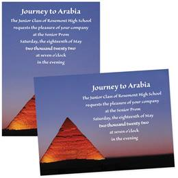 "Pretty Pyramids 4"" x 6"" Invitation"