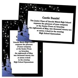 Fairy Tale Castle 4x6 Invitations