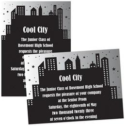 """Cityscape 4"""" x 6"""" Invitation"""