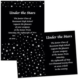 """Stars 4"""" x 6"""" Invitation"""