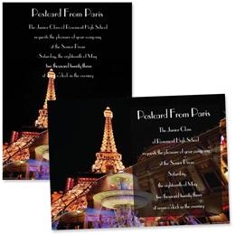 """Paris at Night 4"""" x 6"""" Invitation"""