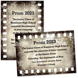 """Filmstrip 4"""" x 6"""" Invitation"""
