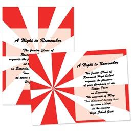 "Red Starburst 4"" x 6"" Invitation"
