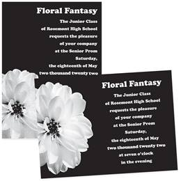 "White Flower 4"" x 6"" Invitation"