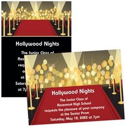 Red Carpet Premiere 4x6 Invitations