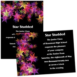 Psychedelic Stars 4x6 Invitations