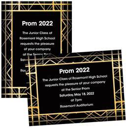 Art Deco 4x6 Invitations