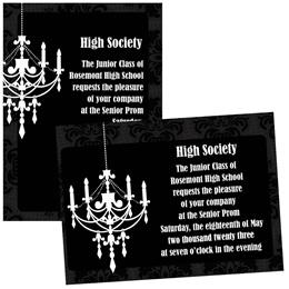 Ballroom Chandelier 4x6 Invitations