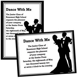 Ballroom Couple 4 x 6 Invitations