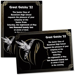 Flapper Girl 4x6 Invitations
