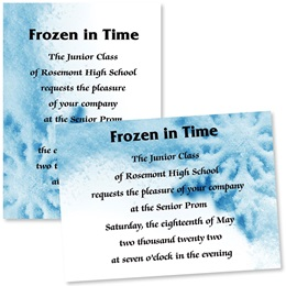 "Frosted Flurries 4"" x 6"" Invitation"
