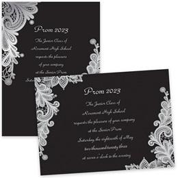 Delicate Lace 4x6 Invitations