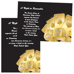 Gold Jackpot 4x6 Invitations