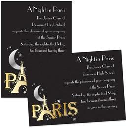 Moon Over Paris 4x6 Invitations
