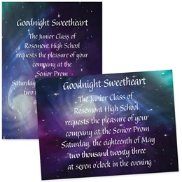 Purple Galaxy 4x6 Invitations