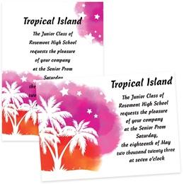 Neon Tropics 4x6 Invitations