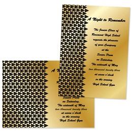 """Black Triangle Deco 4"""" x 6"""" Invitation"""