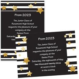 Stars and Bars 4x6 Invitation