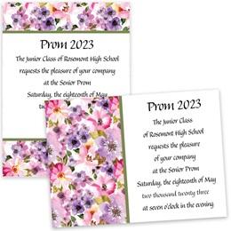 Floral Fantasy 4x6 Invitation