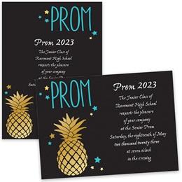 Pineapple Prom 4x6 Invitation