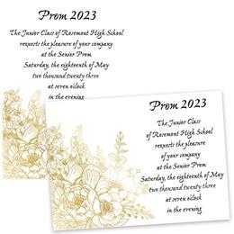 Gilded Roses 4x6 Invitation