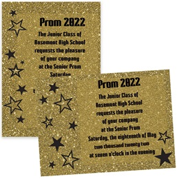 Sparkle Stars 4x6 Invitation