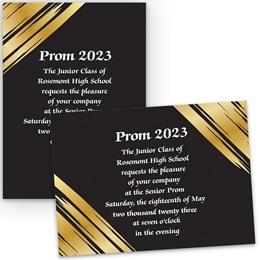 Golden Glam 4x6 Invitation
