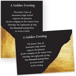 Gold and Black 4x6 Invitation