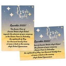 Prom Night Stars 4x6 Invitation