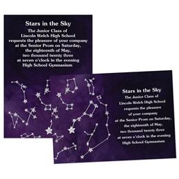 Silver Constellations 4x6 Invitation