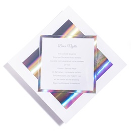 Diamond Silver Invitation