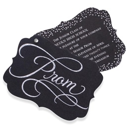 Silver Glitter Twisting Invitation