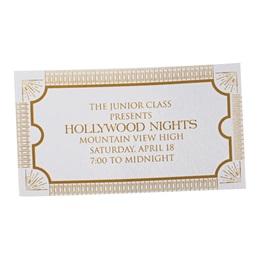 Golden Admission Ticket
