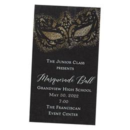 Gold Gothic Mask Ticket