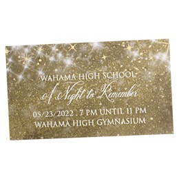 Gold Twinkle Stars Ticket