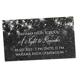 Black Twinkle Stars Ticket