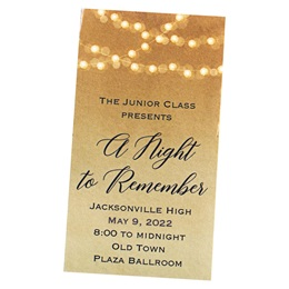 Lighted Golden Glow Ticket