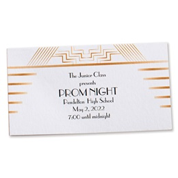 Gatsby Art Deco Ticket