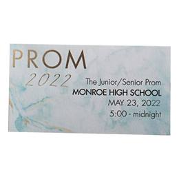 Teal Marble Prom 2020 Ticket