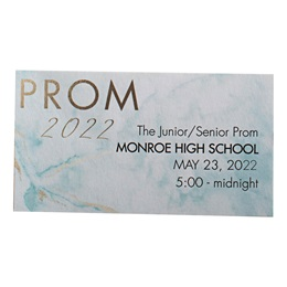 Teal Marble Prom 2021 Ticket