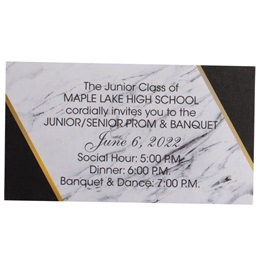 Formal Elegance Luxury Ticket