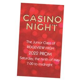 Casino Night Luxury Ticket